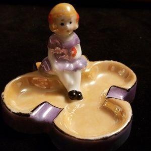 Luster ashtray of sweet little girl